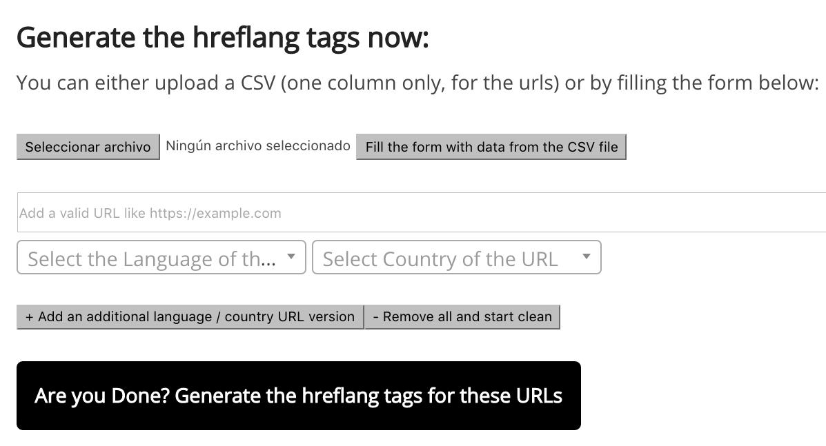 hreflang tags generator tool