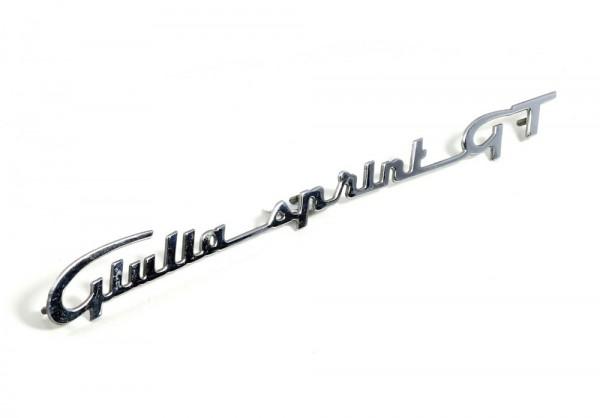 Modellzeichen Schriftzug 'Giulia_Sprint_GT' NEU Giulia