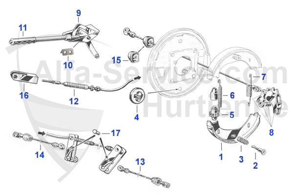 アルファマジック|車種 > Spider (105/115) > BRAKES > HAND BRAKE