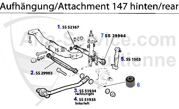 アルファマジック|車種 > 147 > SUSPENSION > ATTACHMENT REAR