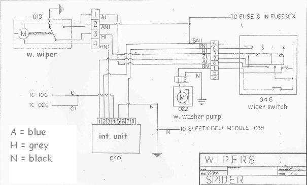 Bosch Wiper Motor Wiring Diagram