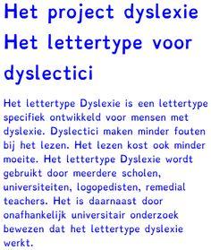 project dyslexie letter