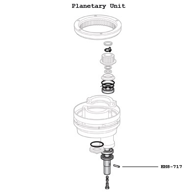 Hobart 12430-234 Planetary Agitator Pin for M802 Mixers