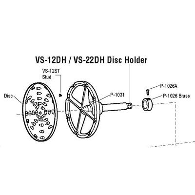 ALFA P-1031 Center Pin / Disc Holder For VS-12DH / VS-22DH