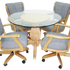 Swivel Chair In Spanish Used Lifeguard Chairs For Sale Tilt With Arms Classic Dinette Set Glass Top Base