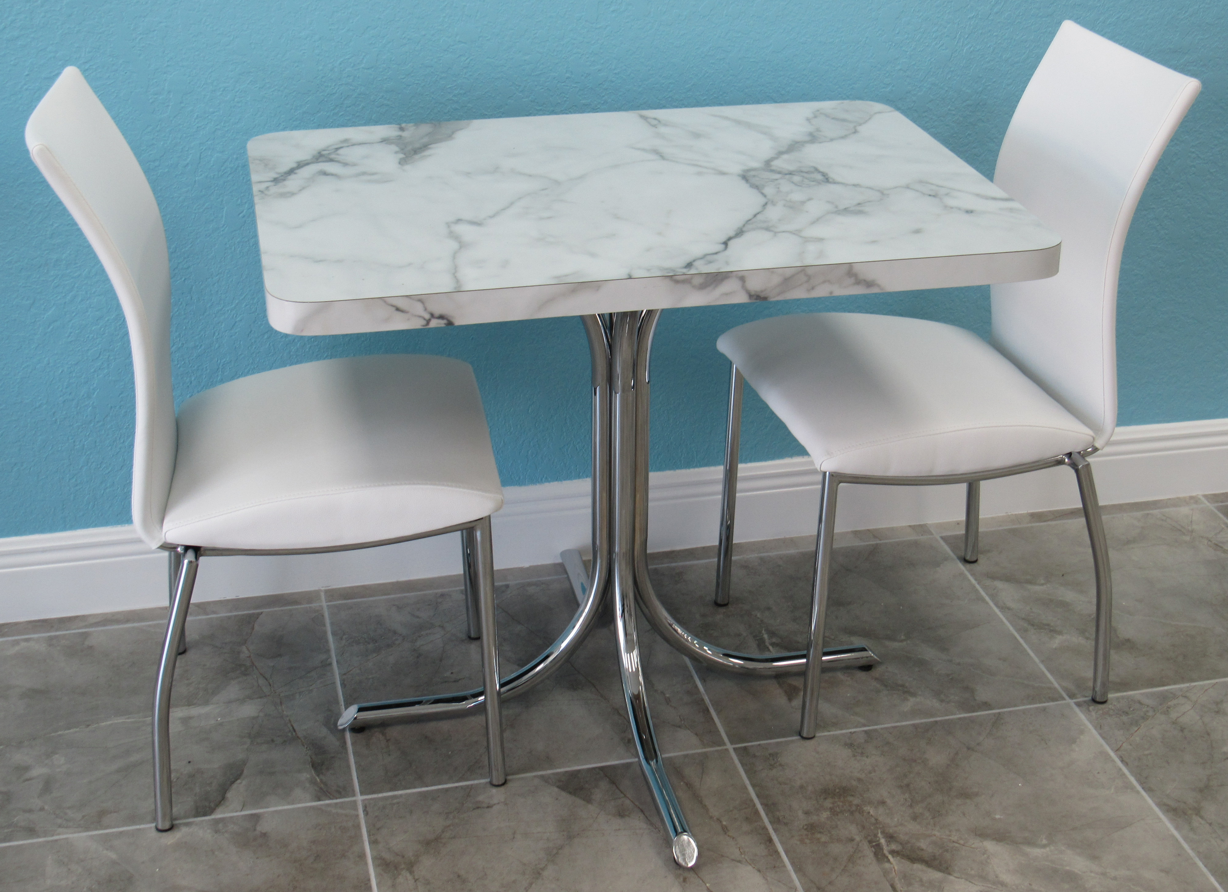 chrome kitchen chairs san antonio hotels with formica table small alfa dinettes