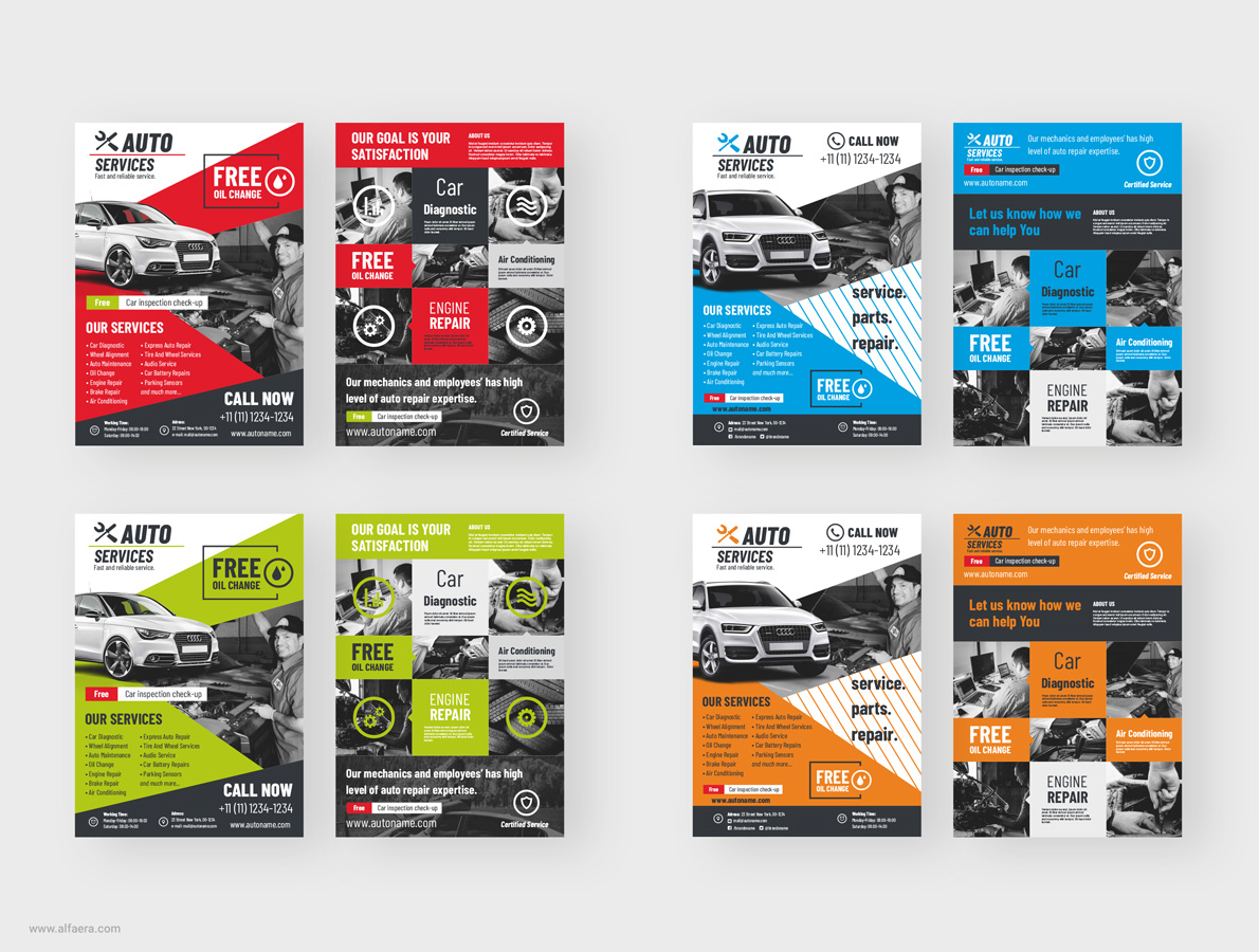 auto flyer template coreldraw