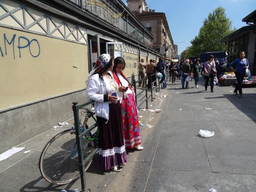 Street market in Porta Palazzo, Turin