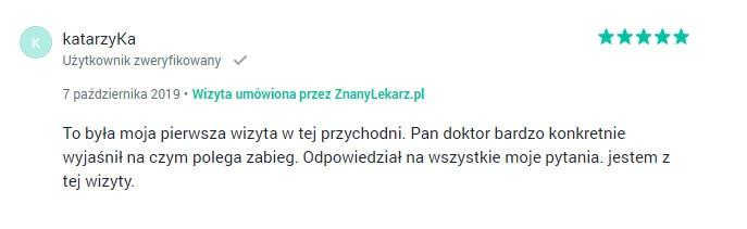 Opinia dr Piotr Paul