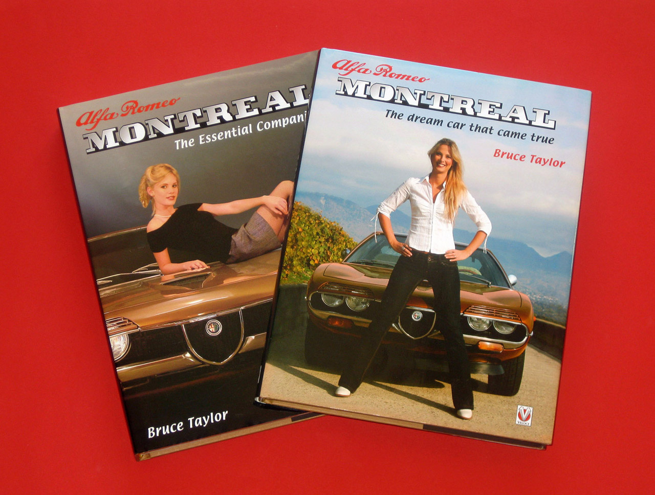 hight resolution of  two alfa romeo montreal books