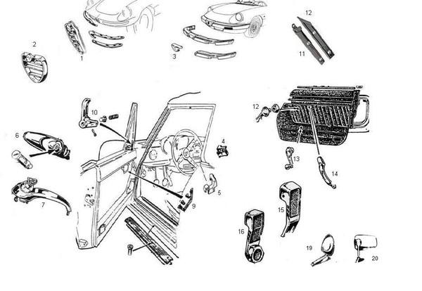 Alfa Ricambi : Alfa Romeo SPIDER, LES CHROMES