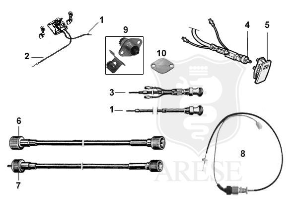 CONVERSION KIT SPEEDOMETER SENSOR SPIDER 1990-93, INCLUDED