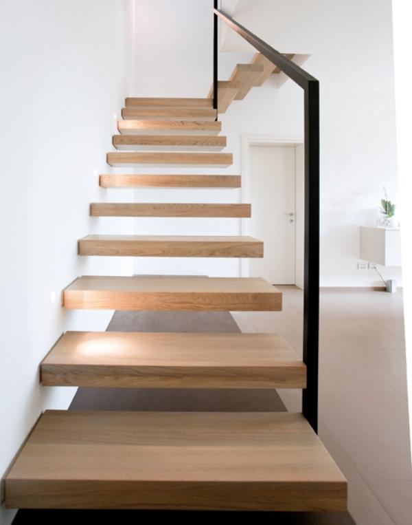 Scale a giorno a sbalzo in legno ghost alfa scale - Tipologia di scale ...