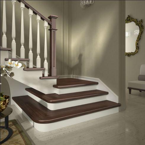 Scale a giorno in legno per interni mod a bicolor - Scale rivestite in legno per interni ...