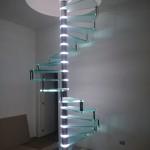 Scala a Chiocciola Reflex Glass Led- Lavorazione