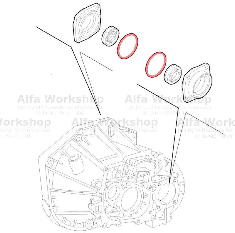 Alfa Romeo GTV Differential