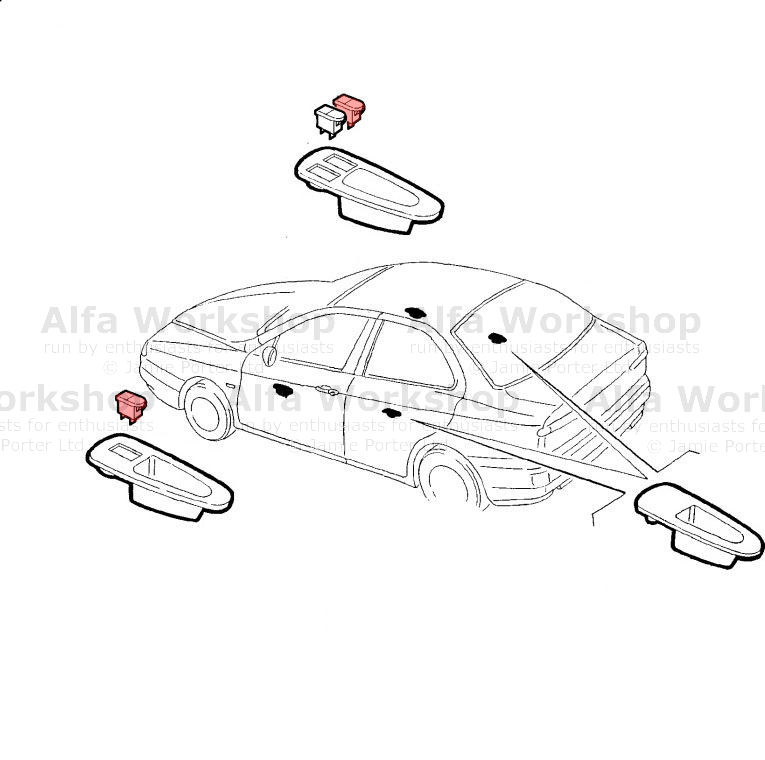 Alfa Romeo 156 Window switch
