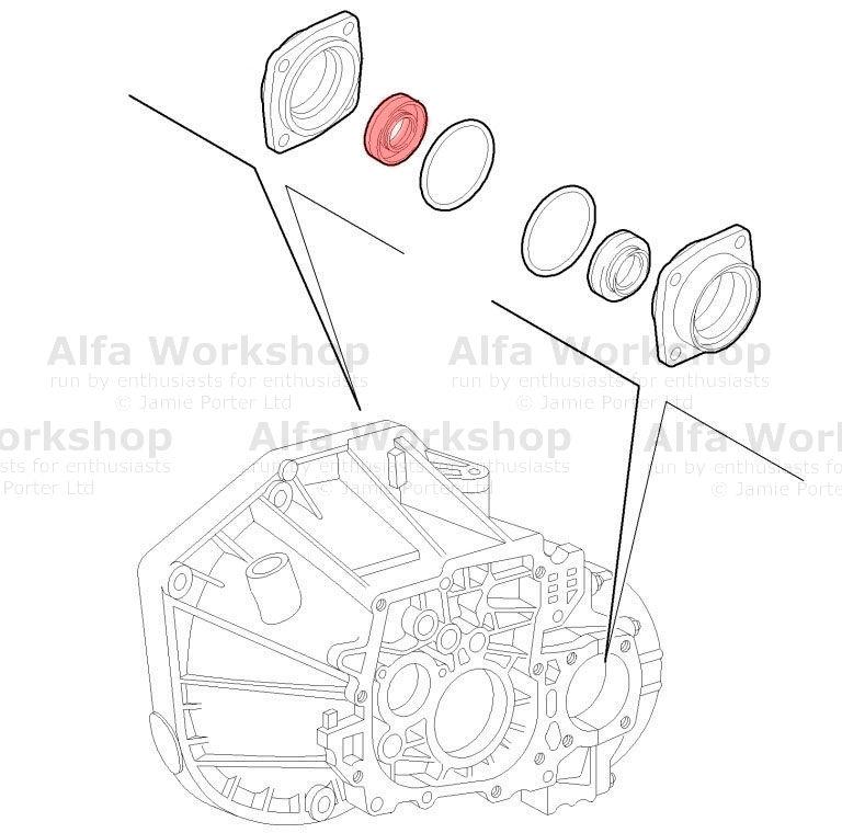 Alfa Romeo Brera Spider Differential. Part Number 55231144
