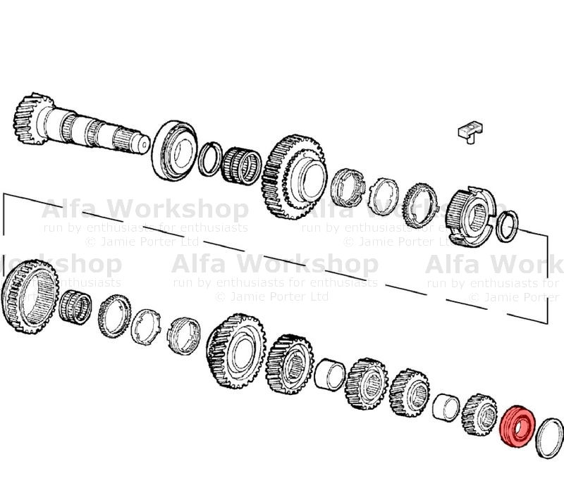 Alfa Romeo 147 Gear shaft bearing