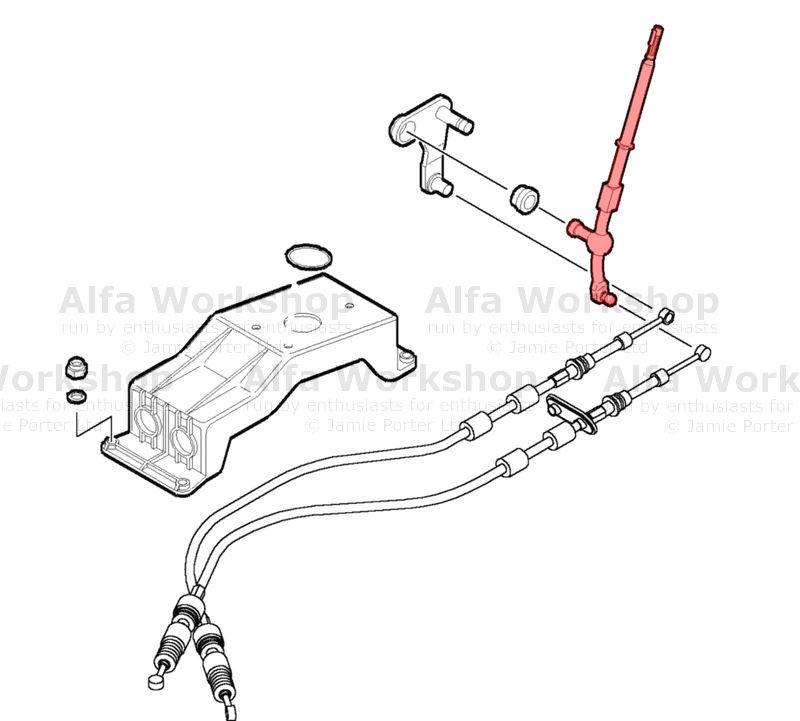 Alfa Romeo 147 Gear lever