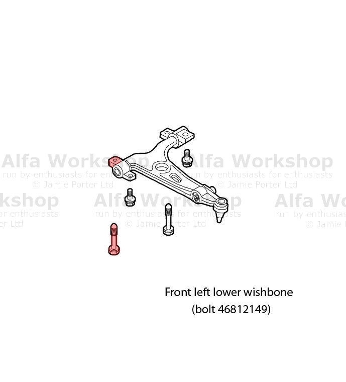 Alfa Romeo GT Wishbones front