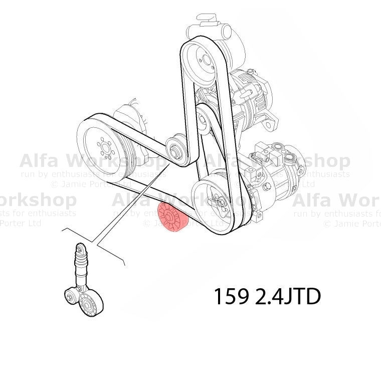 Alfa Romeo Brera Spider Auxiliary tensioner/idler