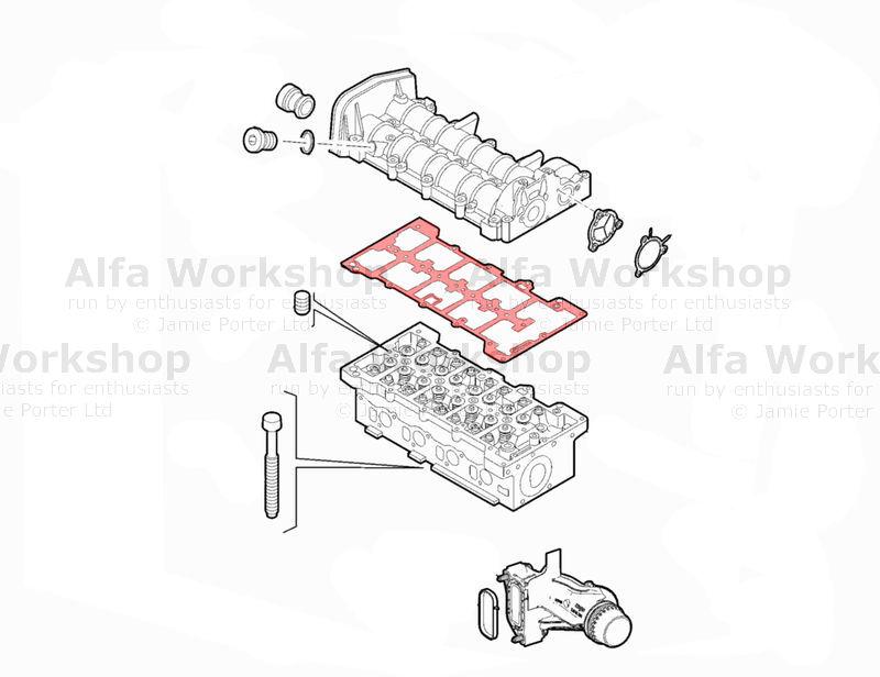 Alfa Romeo 159 Gasket Rocker