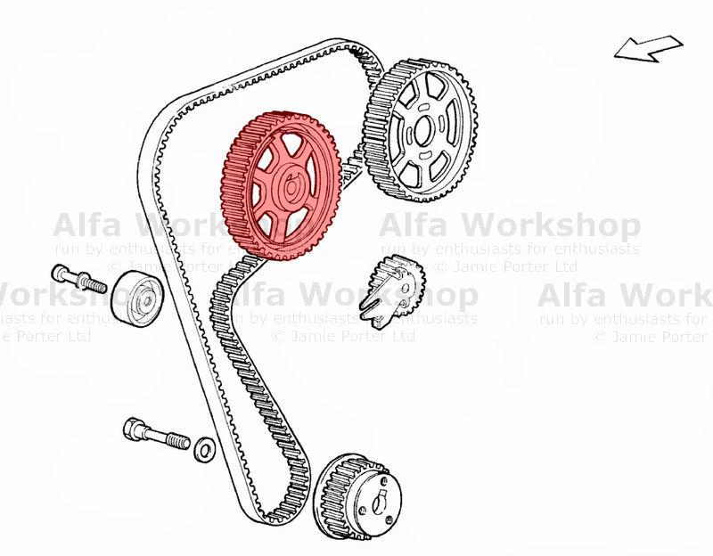 Alfa Romeo Cam belt idlers/tensioners