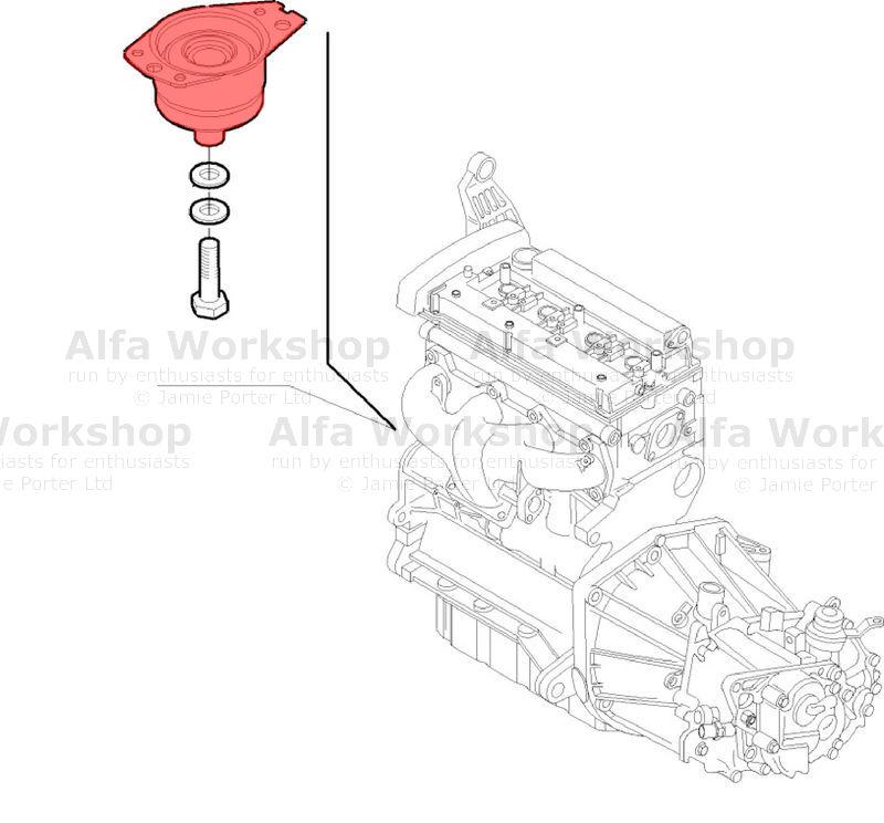 Alfa Romeo 156 Engine mount