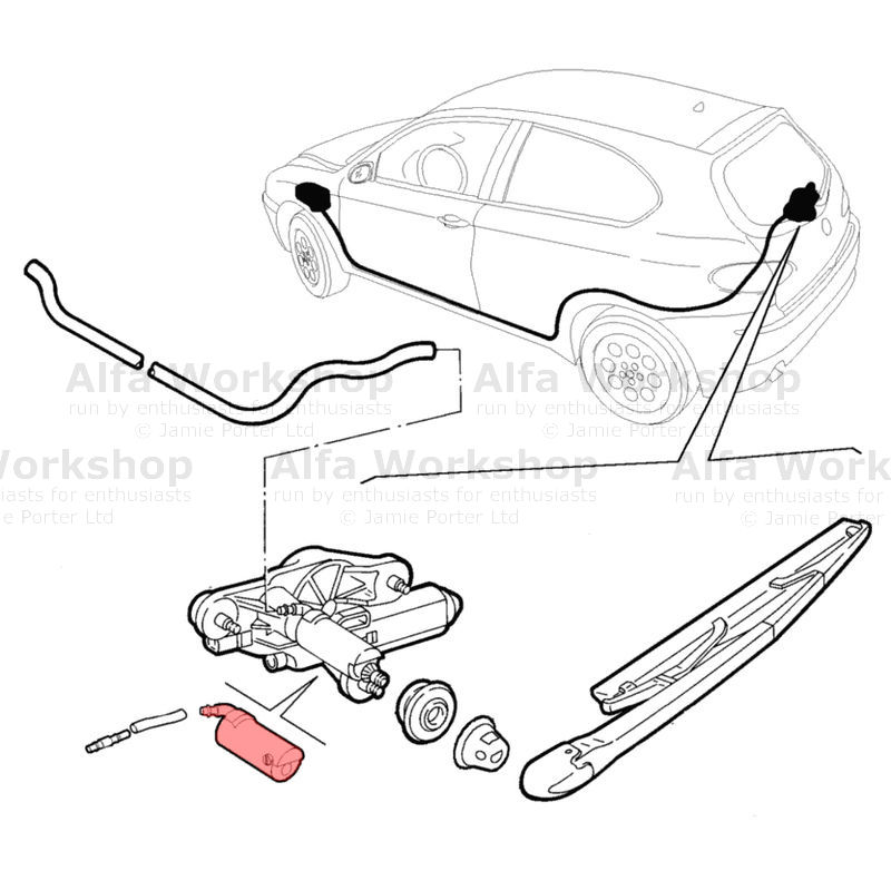 Alfa Romeo 147 Wiper parts