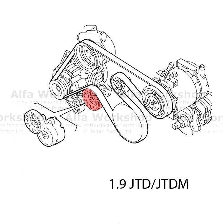 Alfa Romeo 156 Auxiliary tensioner/idler