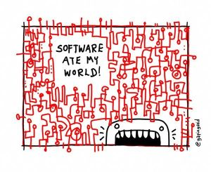 Software ate my world by @Gapingvoid