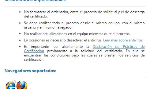 Descarga de certificado FNMT