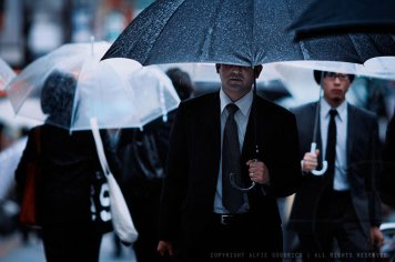 Rainy commute, Tokyo