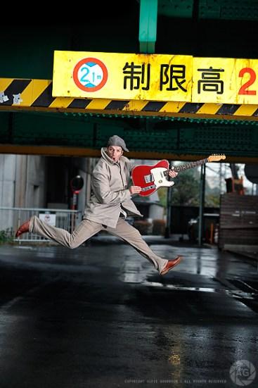 Portraits of Tokyo based musician, Jeff Nicholson