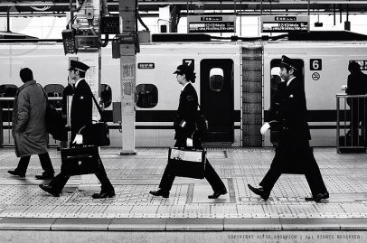 Railway personnel off to work: Tokyo