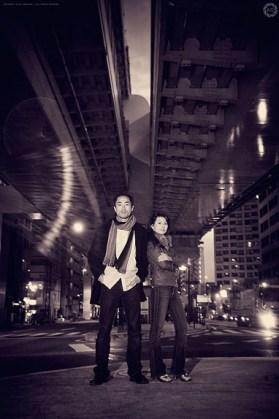 Souvenir portrait for a couple visiting Tokyo