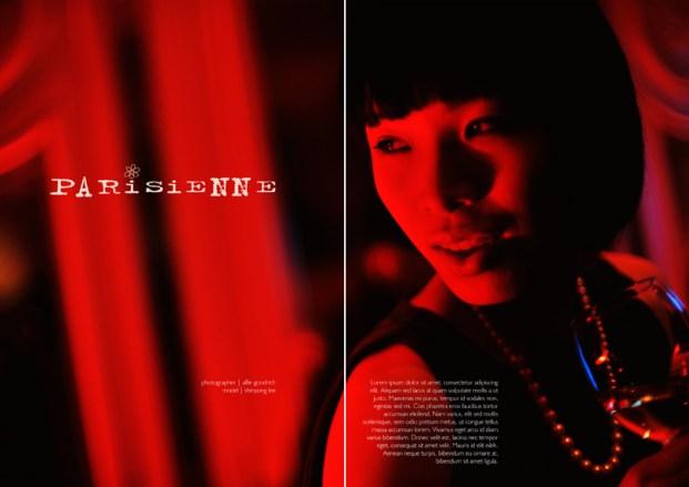 Paris style fashion shoot with Shinyong