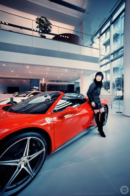 Shoot for Ferrari, Japan