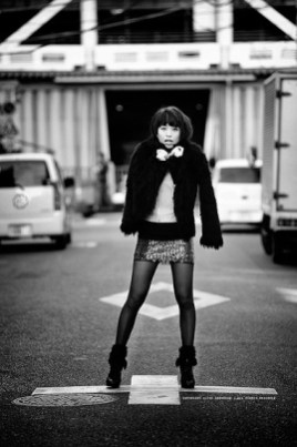 Street fashion shoot in Tsukiji