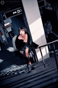 Fashion shoot by B-Movie theatres, Tokyo