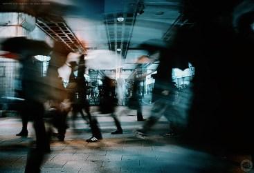 Blurs in the rain, Akihabara