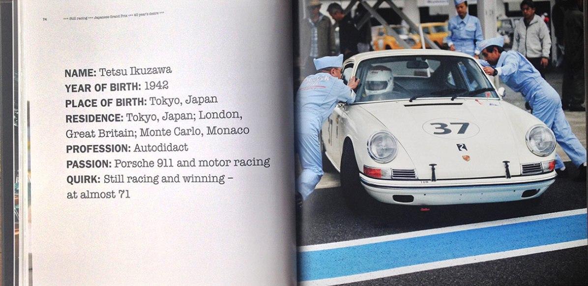 Photos of Tetsu Ikuzawa for the Porsche 911 50th Anniversary book