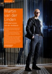 Portrait of architect Martin ven der Linden for Eurobiz Magazine