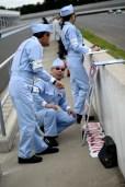Team Ikuzawa at the pit wall, Sodegaura Raceway