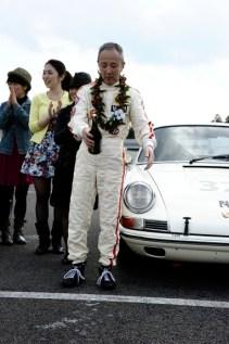 A victorious Tetsu Ikuzawa, Sodegaura Raceway