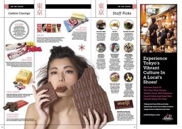 Valentines chocolate issue for InTokyo magazine