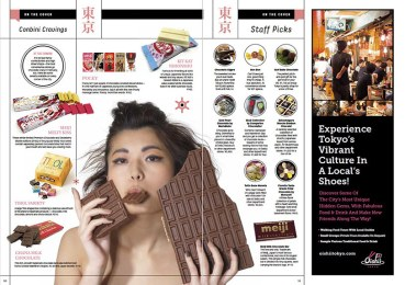 Valentines chocolate issue for InTokyo magazine