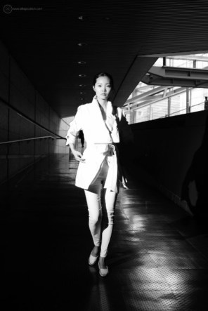 Fashion shoot at Tokyo International Forum