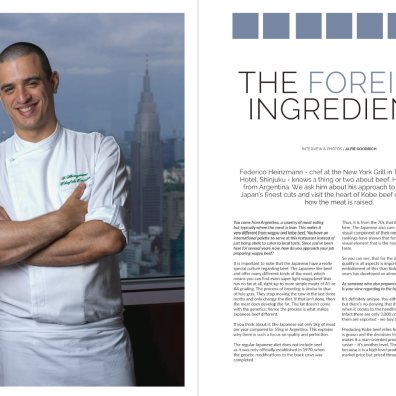 Feature on Kobe beef and the chef at the Park Hyatt